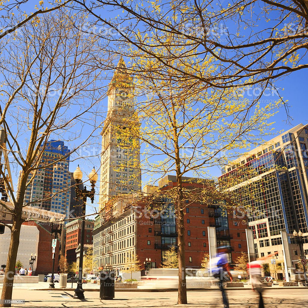 Boston at spring stock photo
