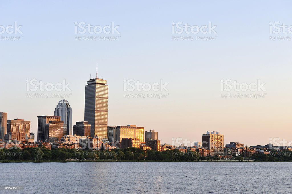 Boston at Sunset royalty-free stock photo