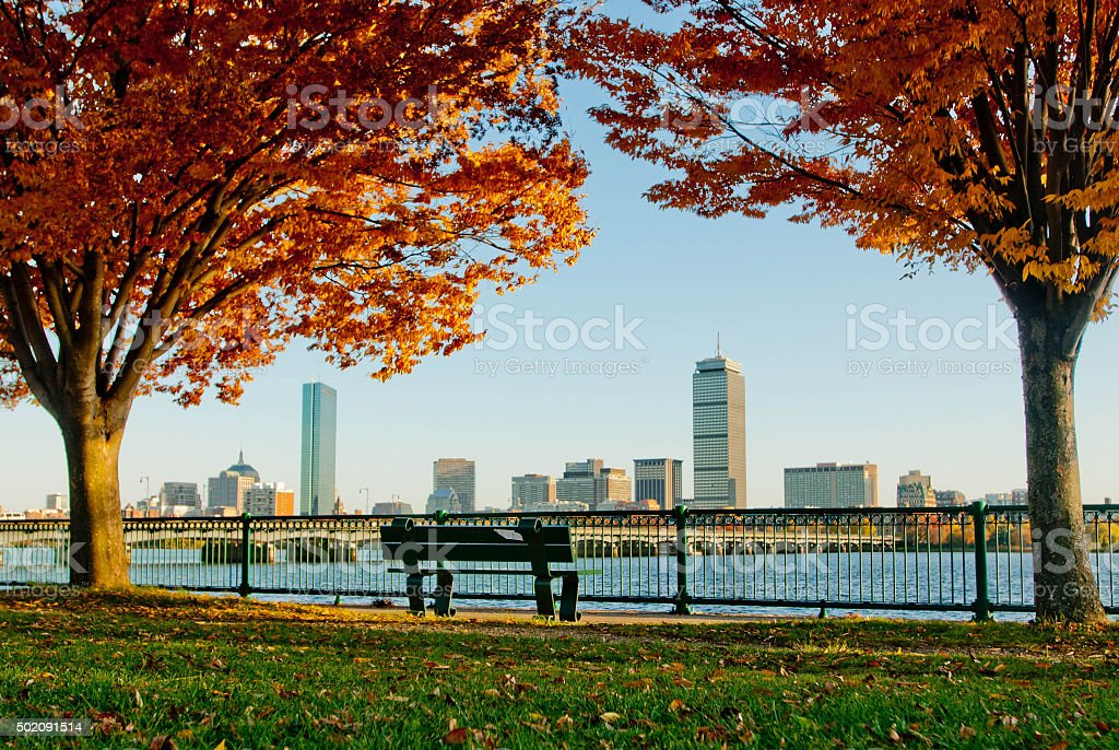 Boston Autumn stock photo