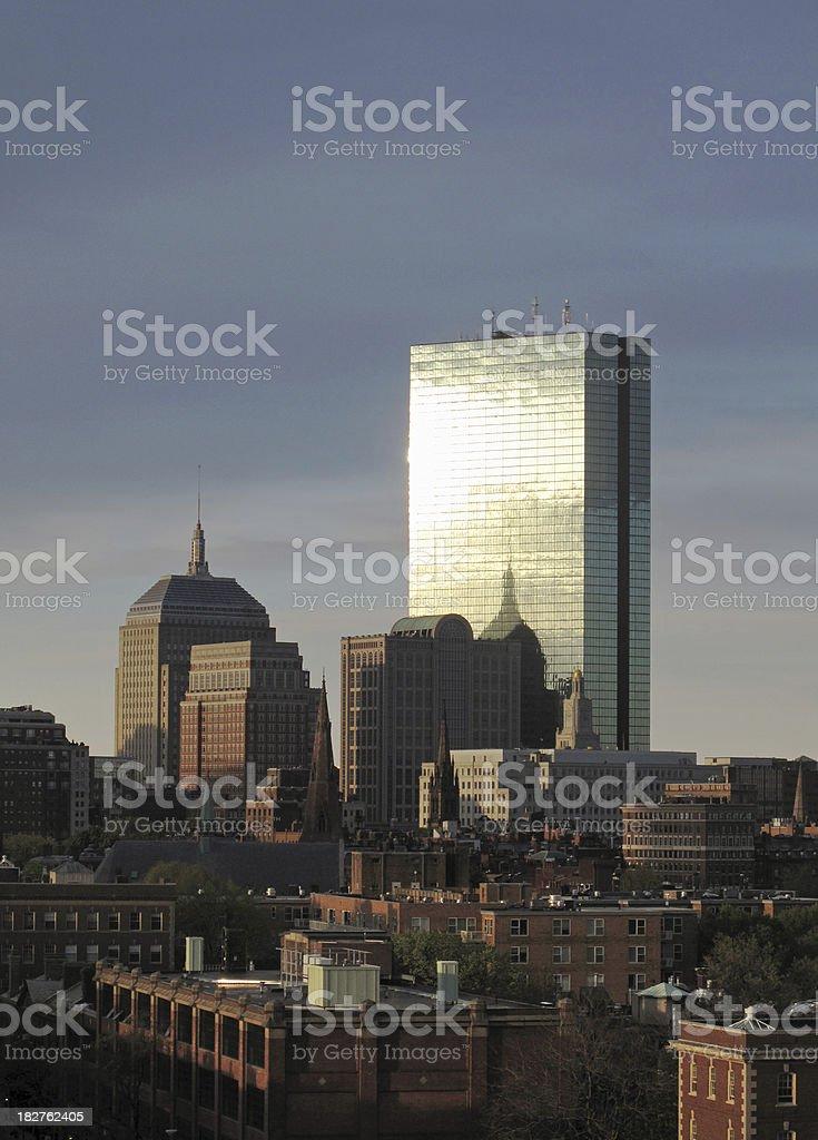 Boston Back Bay at Sunrise royalty-free stock photo
