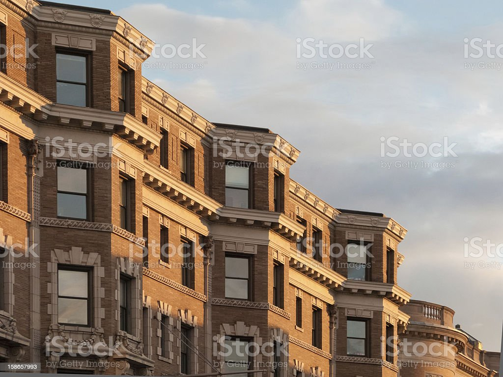 Boston Back Bay Brownstones royalty-free stock photo
