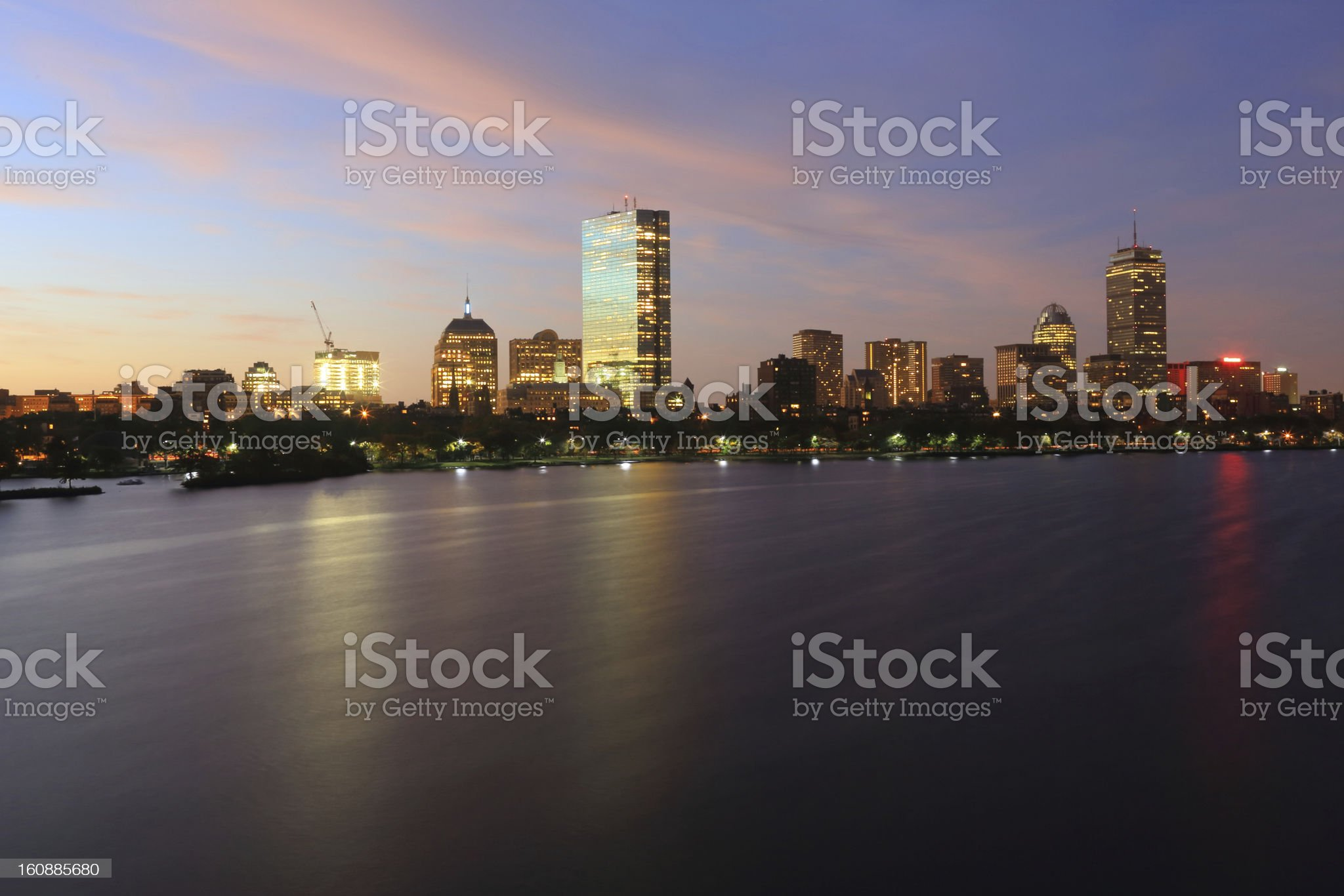 Boston: Back Bay royalty-free stock photo