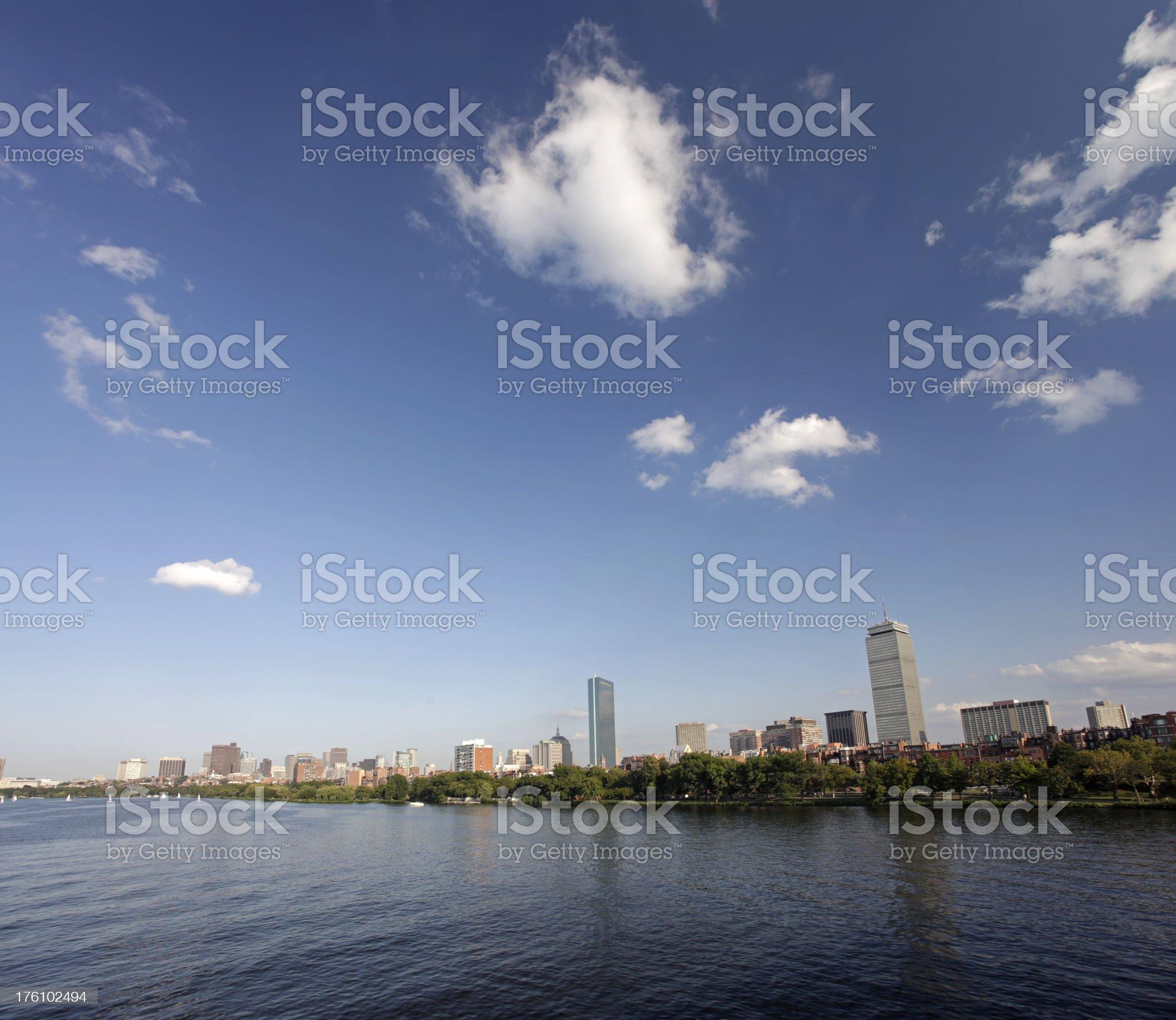 Boston Back Bay royalty-free stock photo