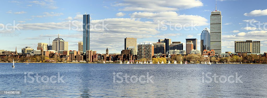 Boston Back Bay Skyline royalty-free stock photo