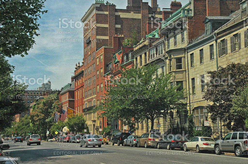 Boston Beacon Hill Street Views stock photo