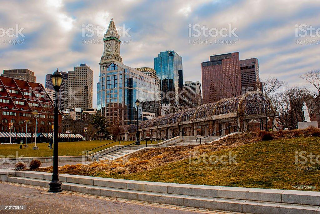 Boston Beautiful City Full Of History And Amazing Sports Fans stock photo