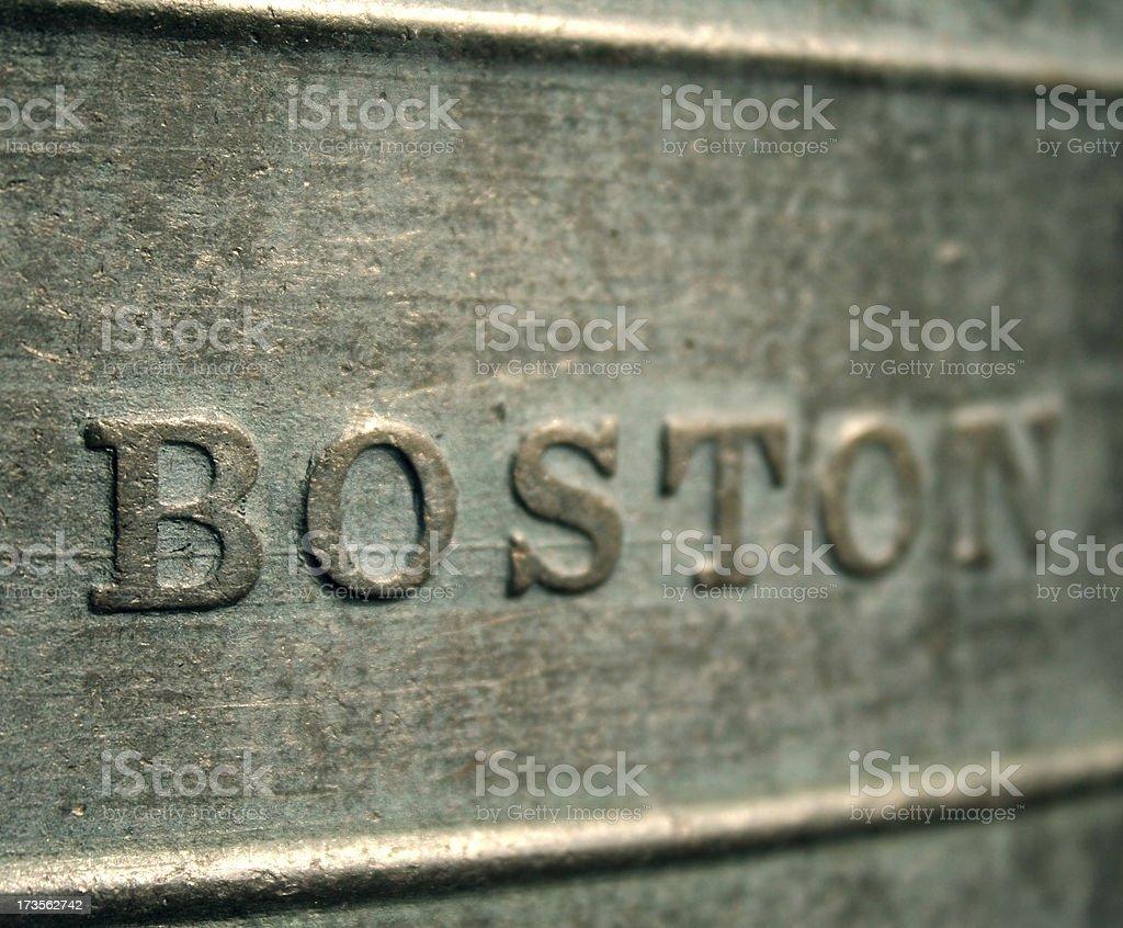 Boston - carved metal stock photo