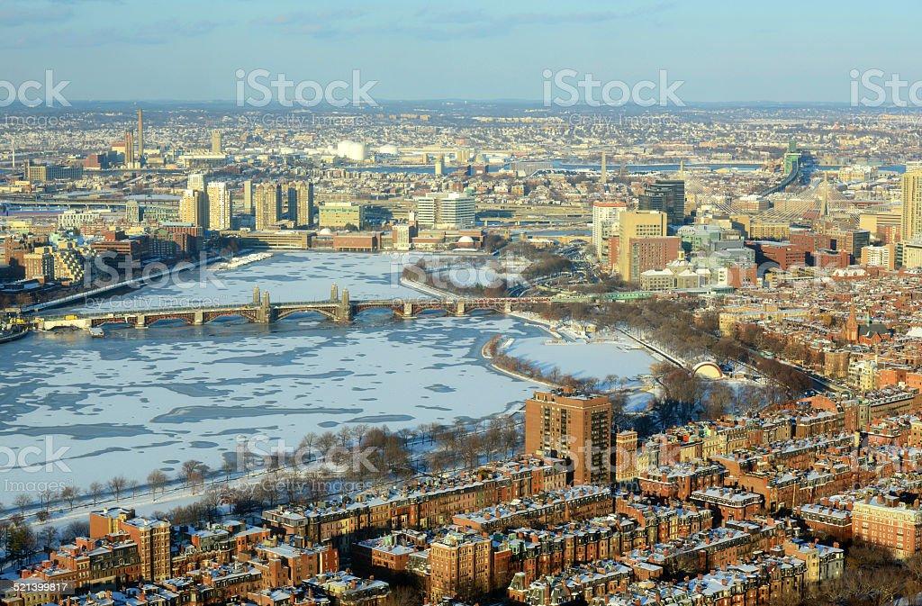 Boston Charles River and Back Bay, Boston stock photo