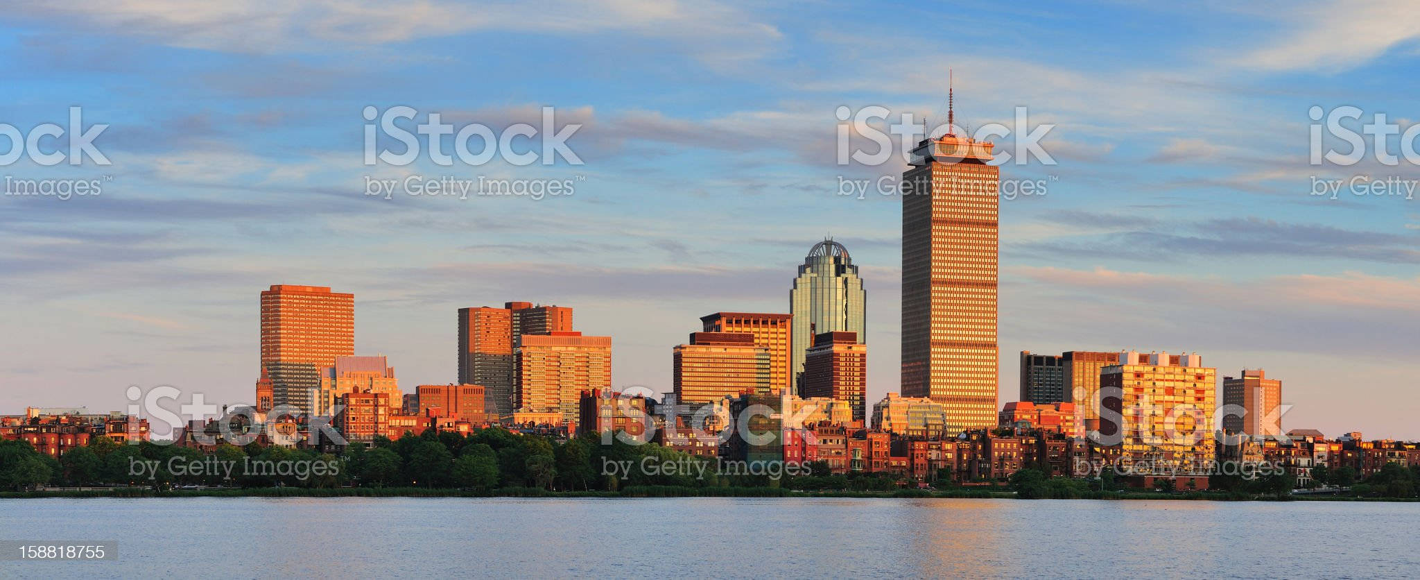 Boston Charles River panorama royalty-free stock photo