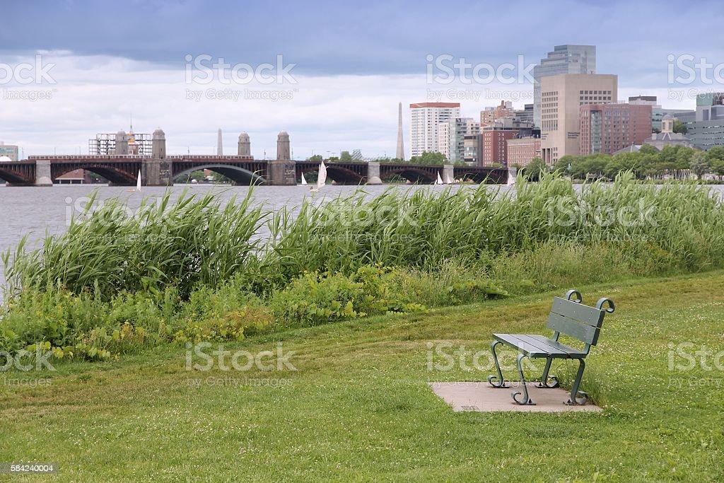 Boston Charles River stock photo