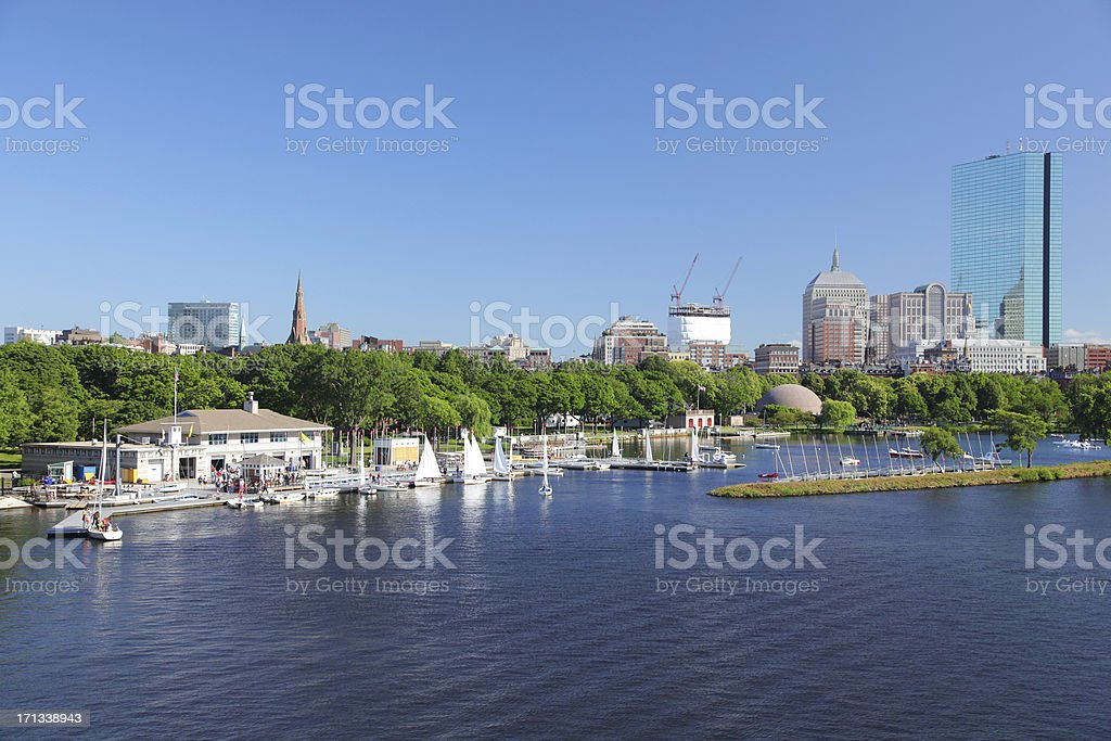 Boston City Rental Sailboat Marina royalty-free stock photo