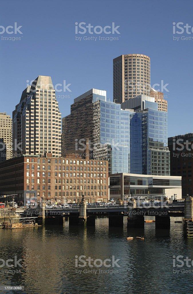 Boston City Skyline royalty-free stock photo