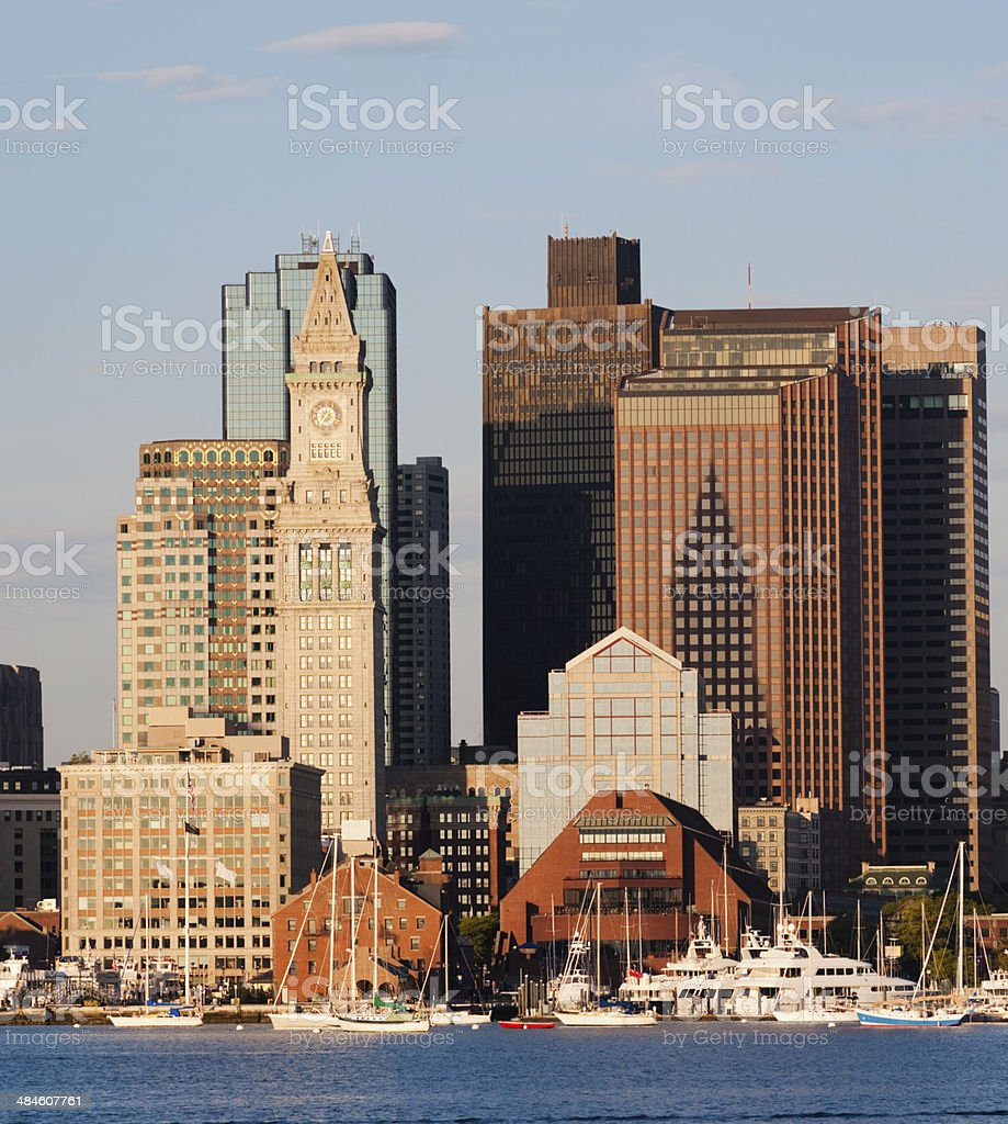 Boston City Skyline USA stock photo