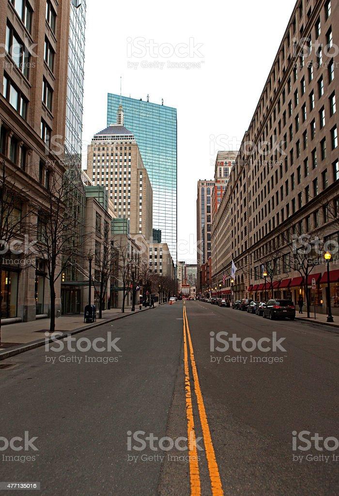 Boston City Street View stock photo