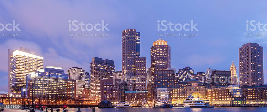 Boston cityscape royalty-free stock photo