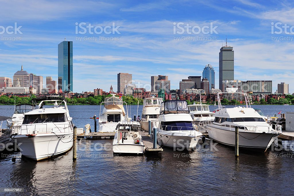Boston cityscape royalty-free stock photo