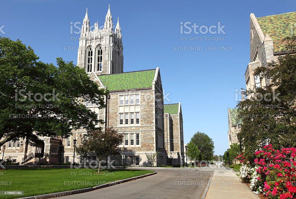 Boston College stock photo