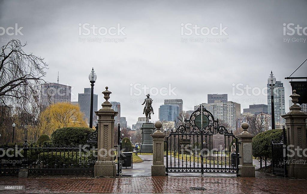 Boston Common royalty-free stock photo