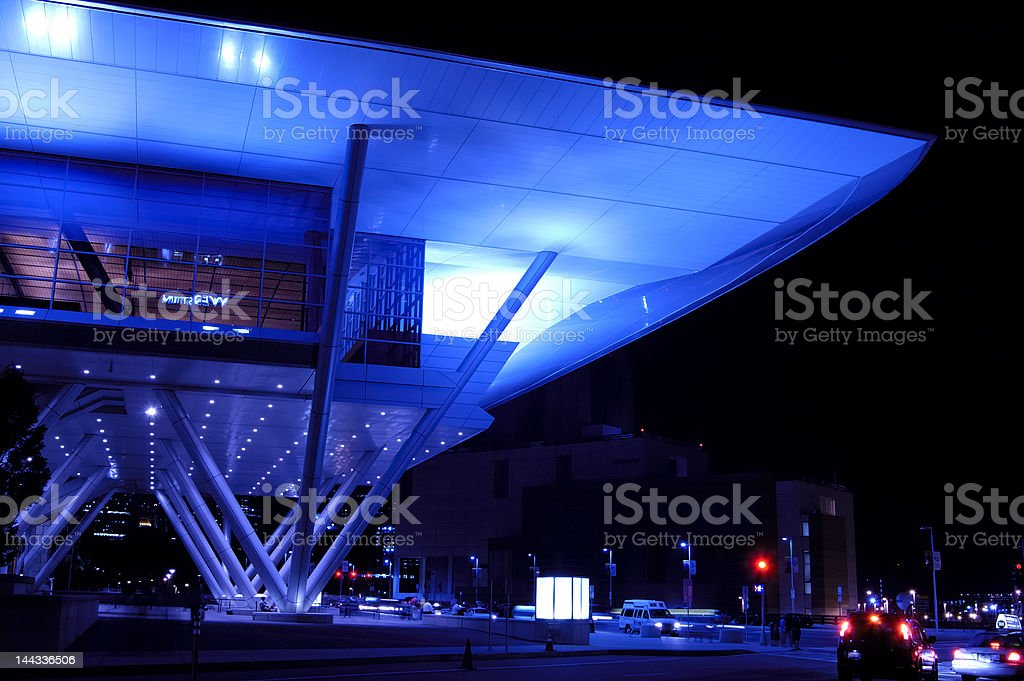 boston convention center at night royalty-free stock photo