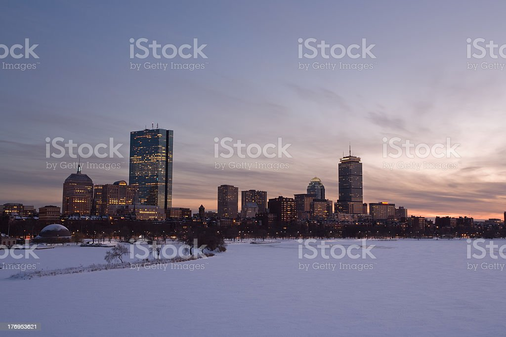 Boston Downtown Back Bay royalty-free stock photo