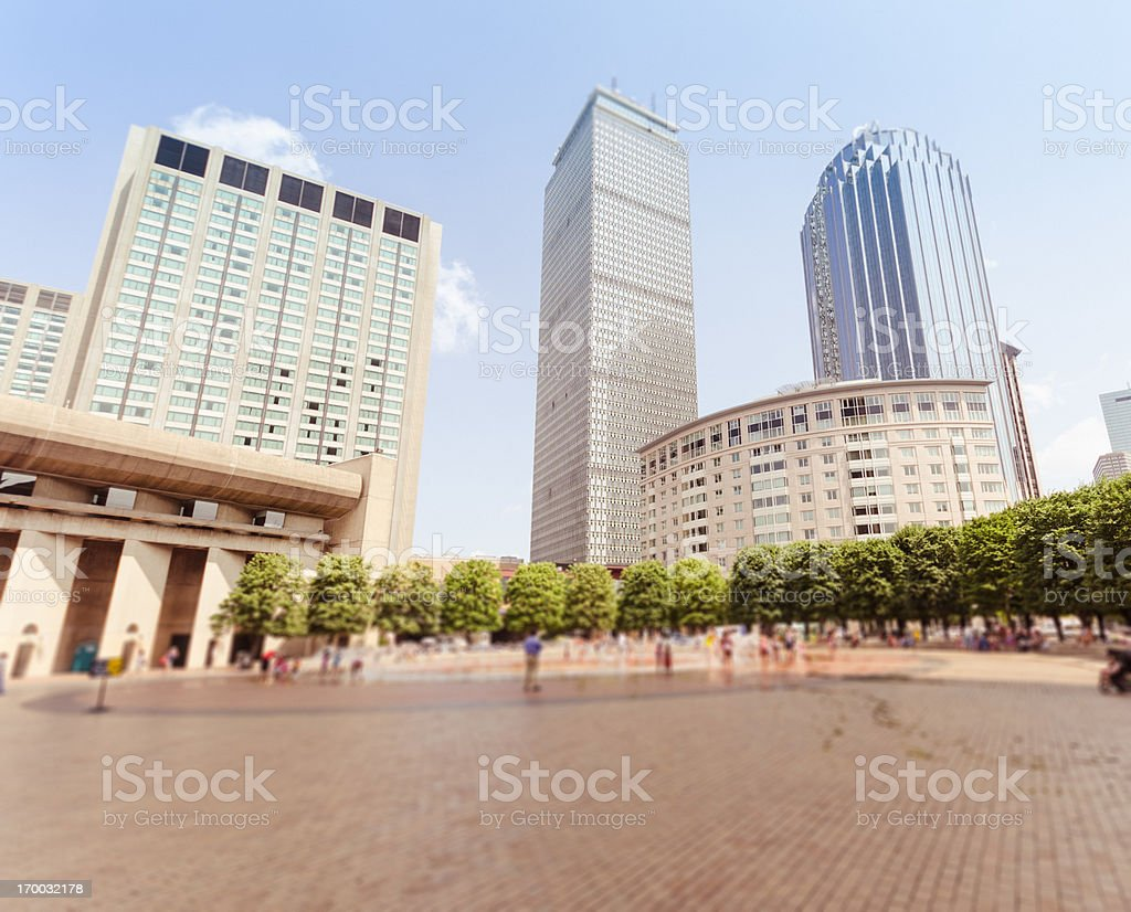 Boston downtown under the prudential tower royalty-free stock photo