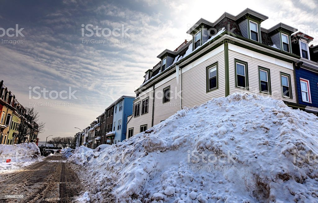 Boston during the historic 2015 winter stock photo