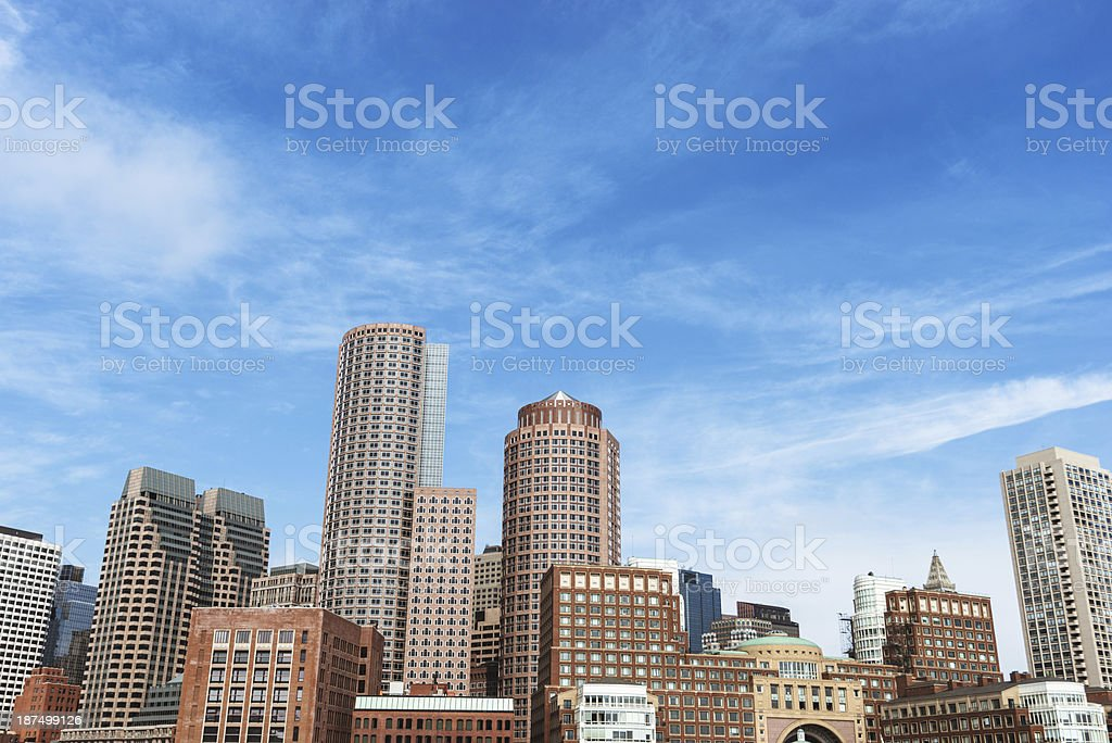 Boston financial district skyline royalty-free stock photo