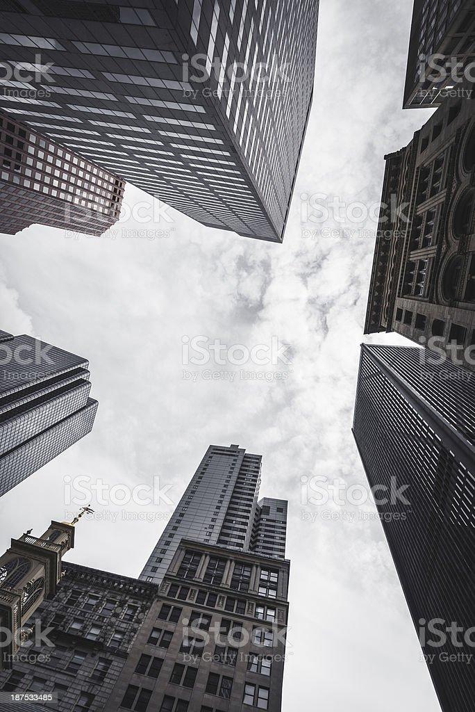 Boston financial district skyline royalty-free stock photo
