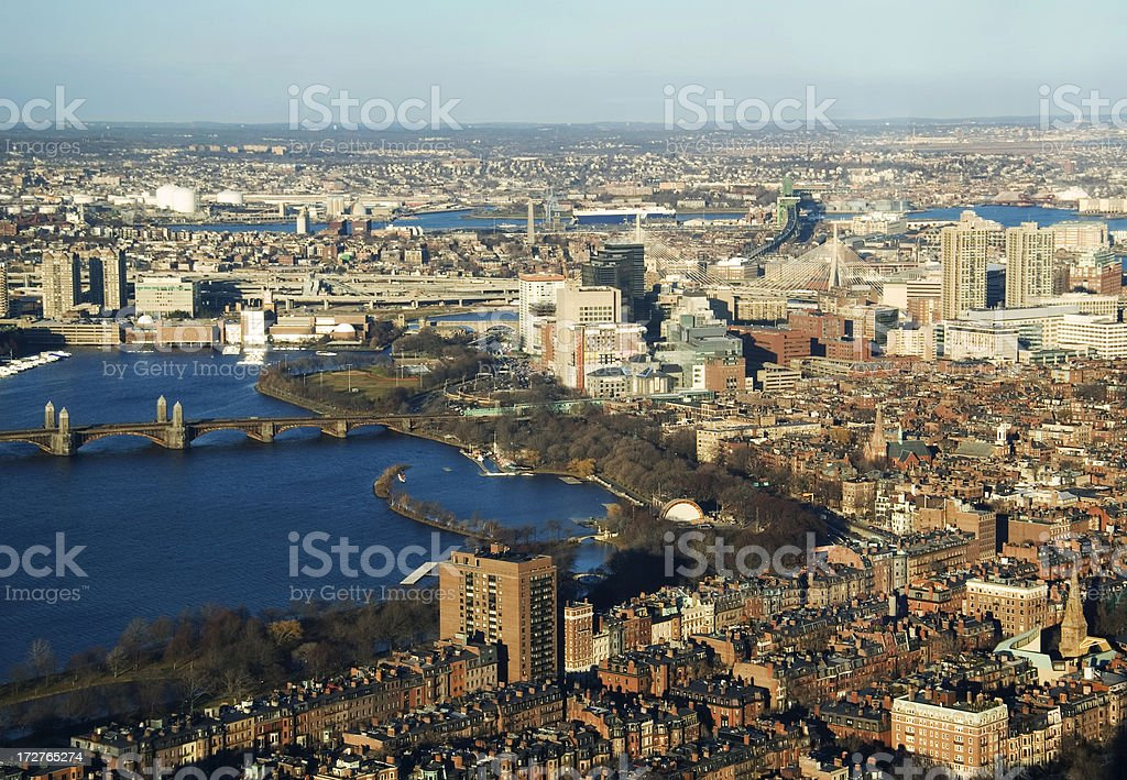Boston From Above Horizontal stock photo