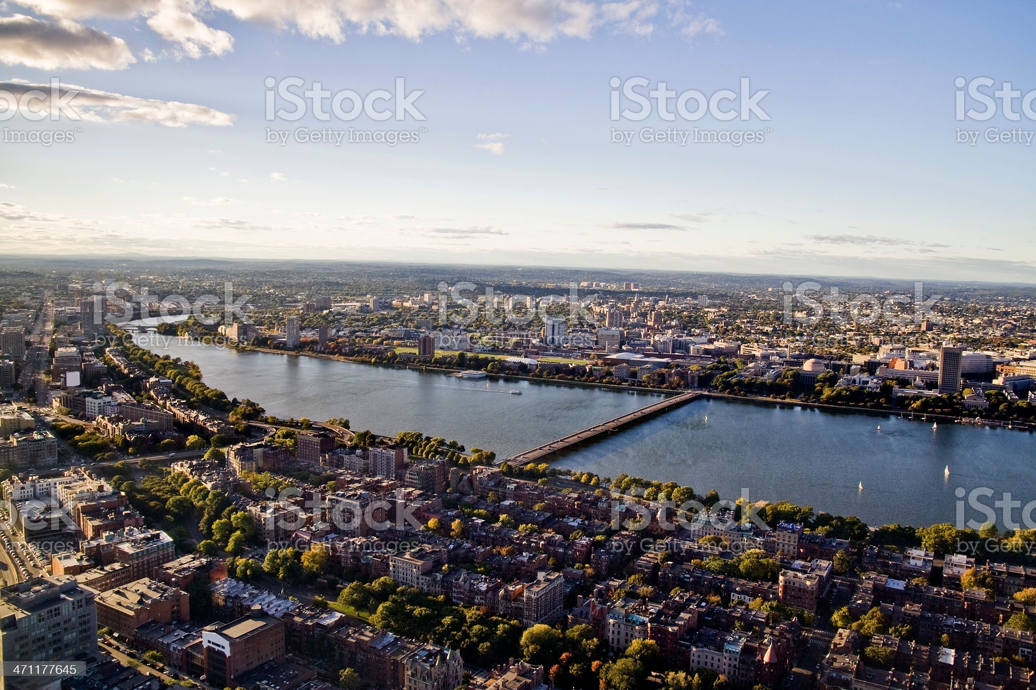 Boston from above royalty-free stock photo
