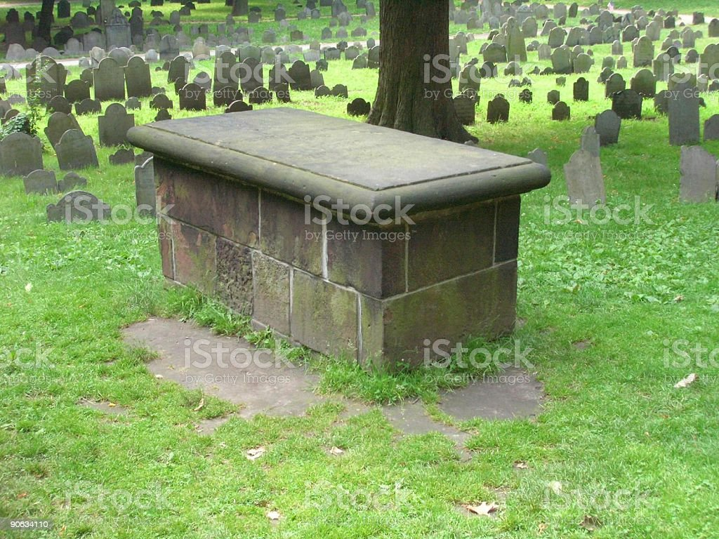 Boston granary Burial grounds stock photo