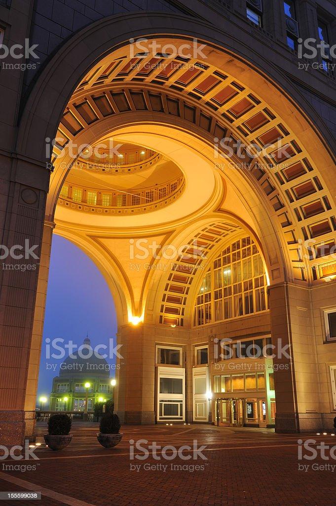 Boston Harbor Hotel royalty-free stock photo