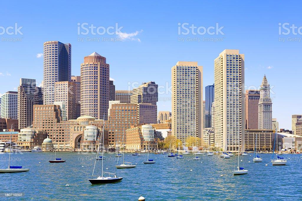 Boston Harbor, Massachusetts stock photo