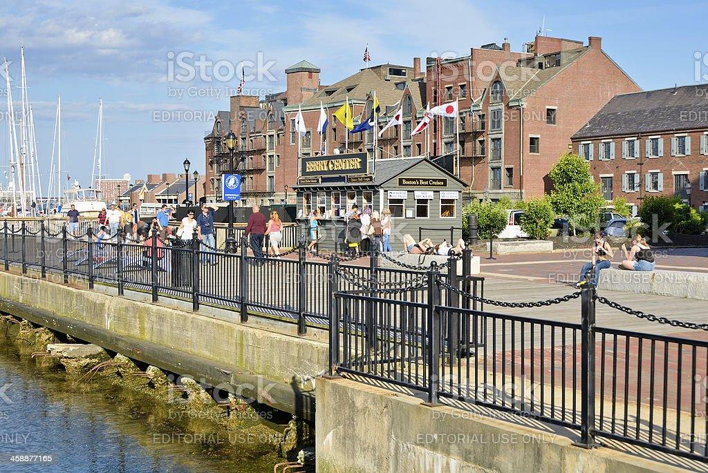 Boston Harbor royalty-free stock photo