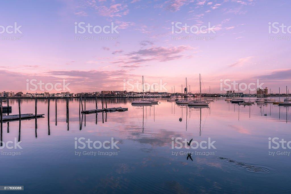 Boston Harbor stock photo