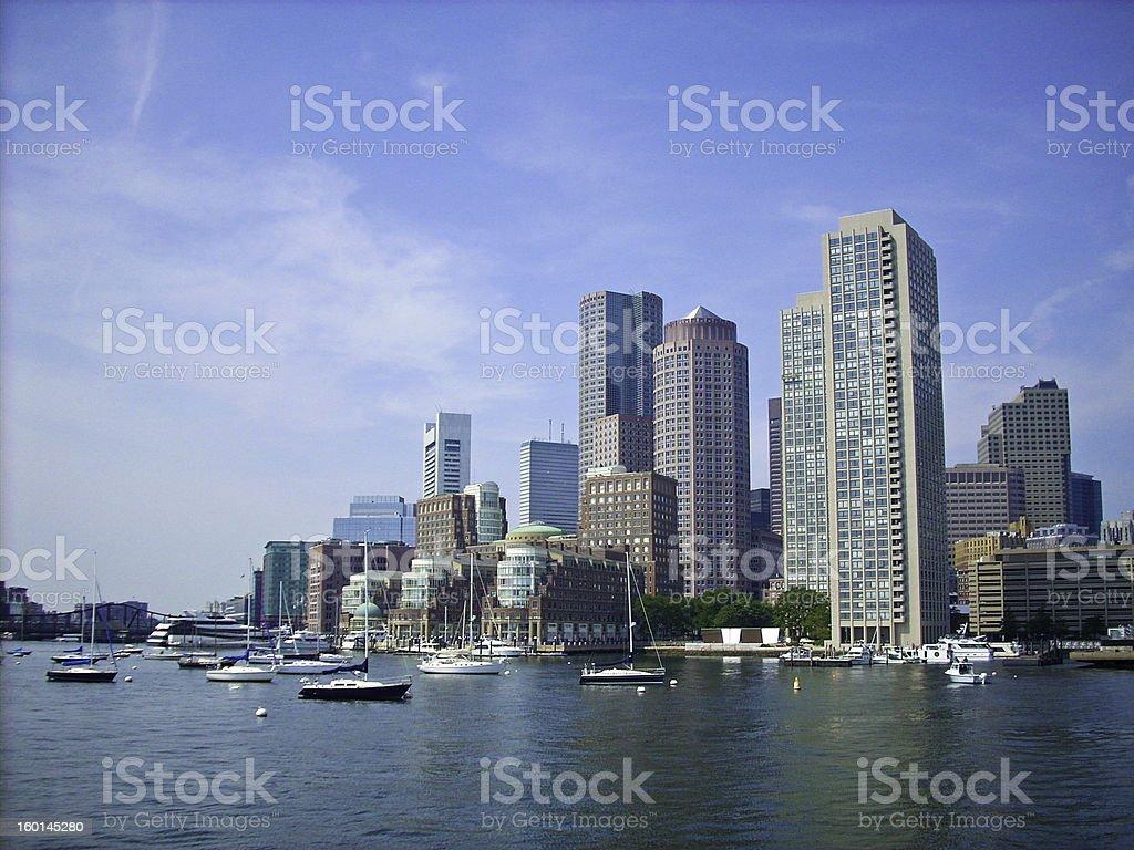boston Harbor Skyline stock photo