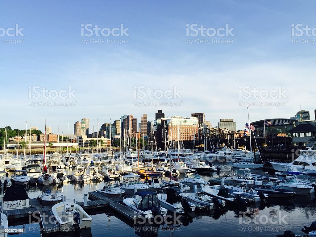 Boston Harbour View stock photo