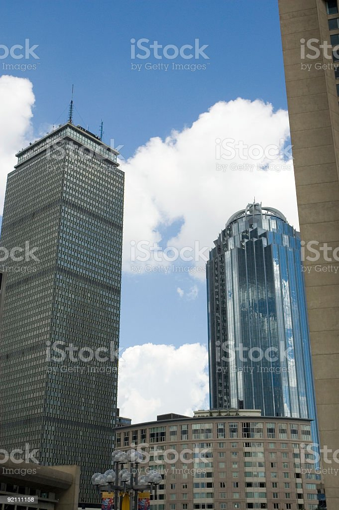 Boston high and low skylines royalty-free stock photo