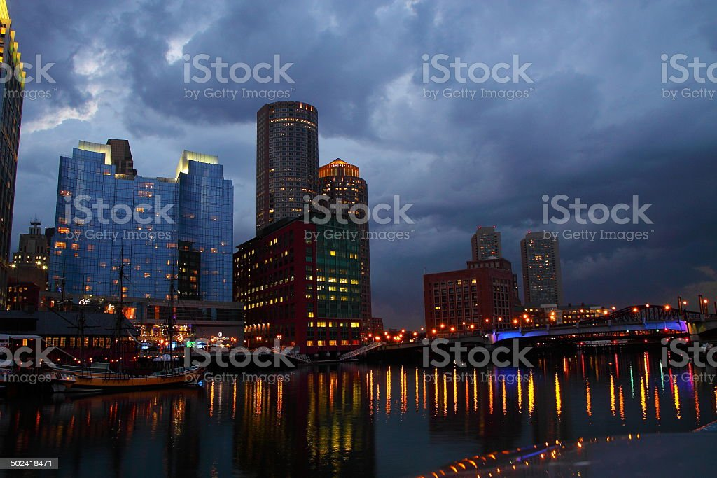 Boston im Gewitter royalty-free stock photo