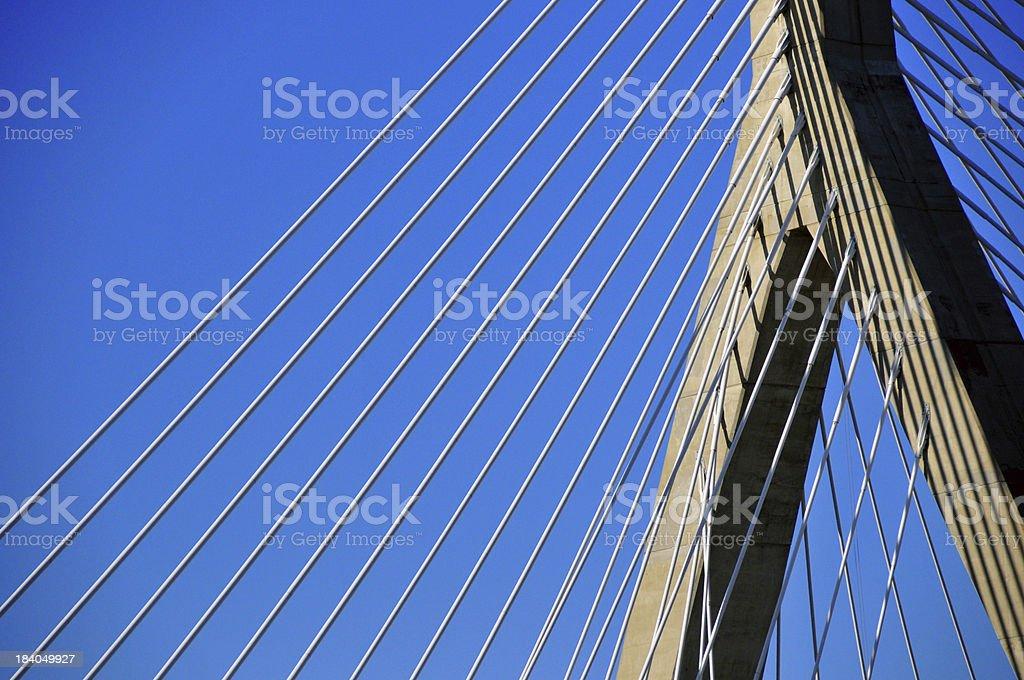 Boston: Leonard P. Zakim Bunker Hill Memorial Bridge stock photo