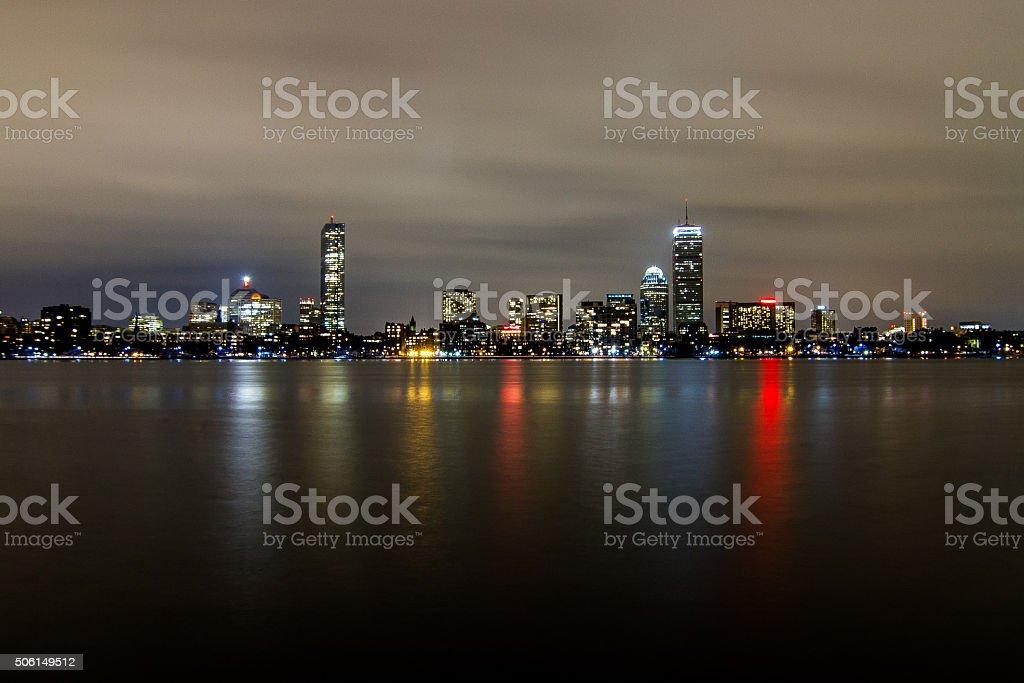 Boston Lights stock photo