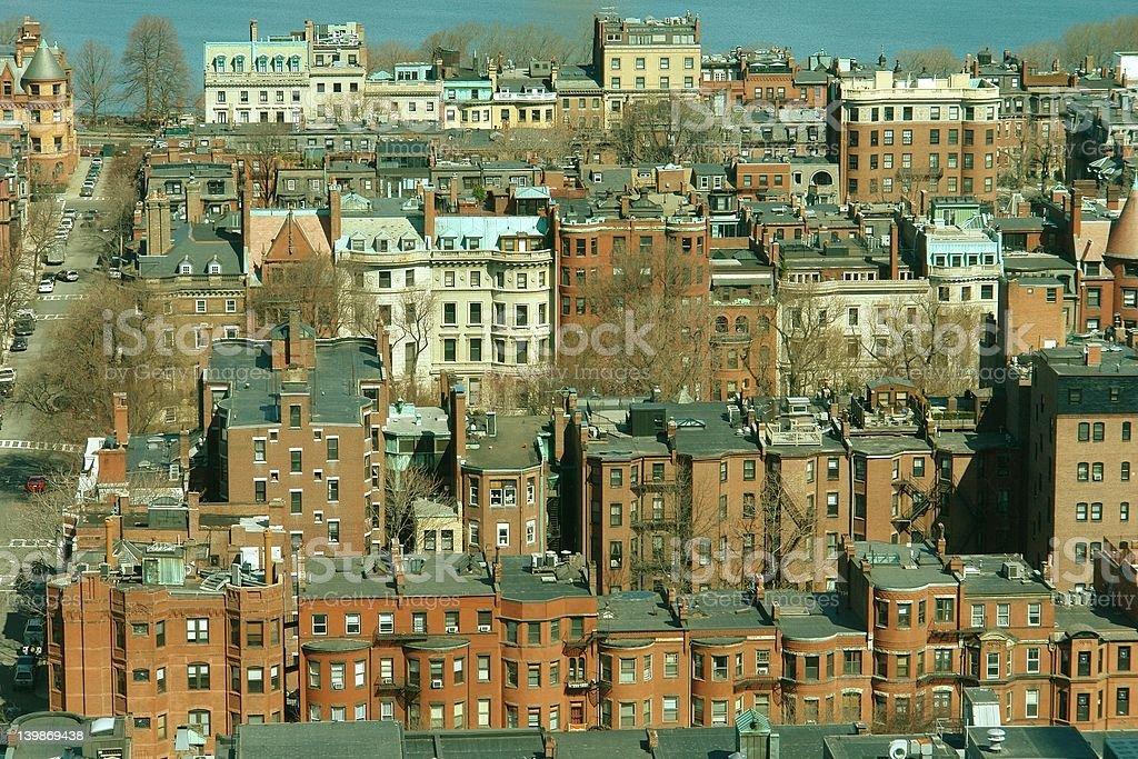 Boston MA Back Bay royalty-free stock photo