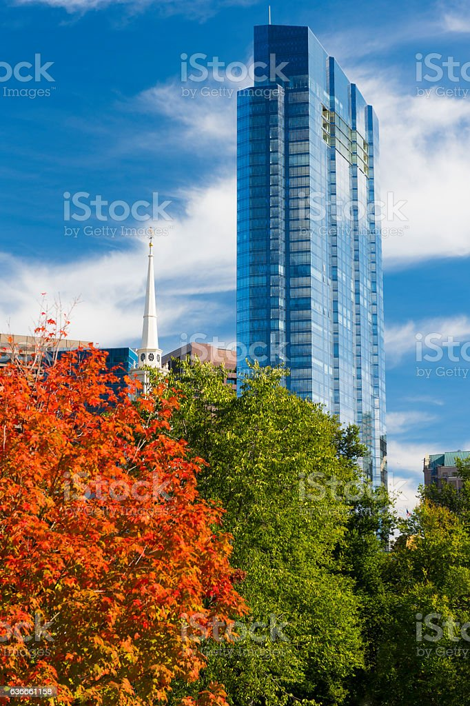 Boston, MA, During Indian Summer stock photo