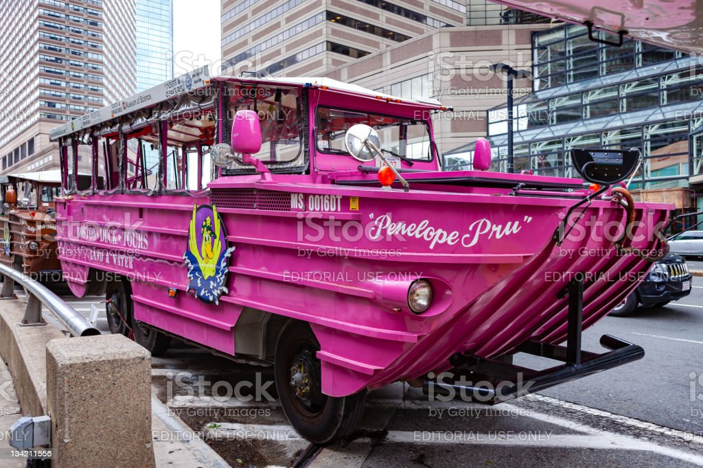 Boston, MA USA - The DUCK tour stock photo