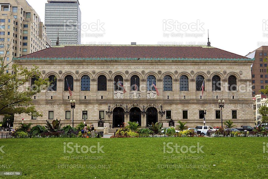 Boston MA, USA - Public Libarary stock photo