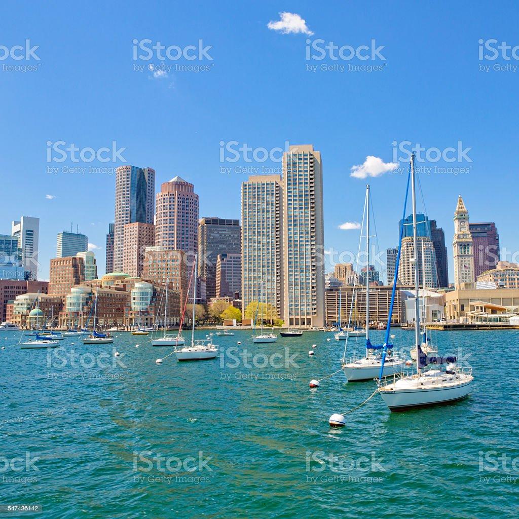Boston Marina, Massachusetts stock photo