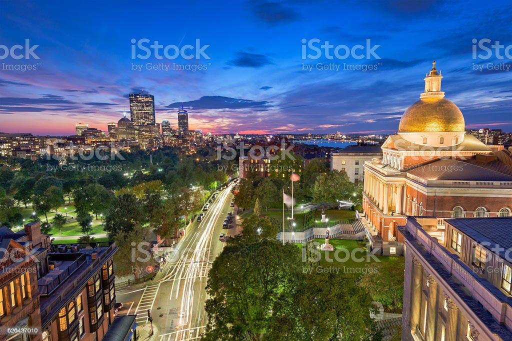Boston Massachusetts Cityscape stock photo