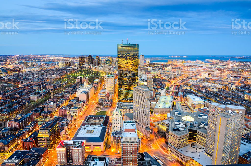 Boston, Massachusetts Downtown Cityscape stock photo