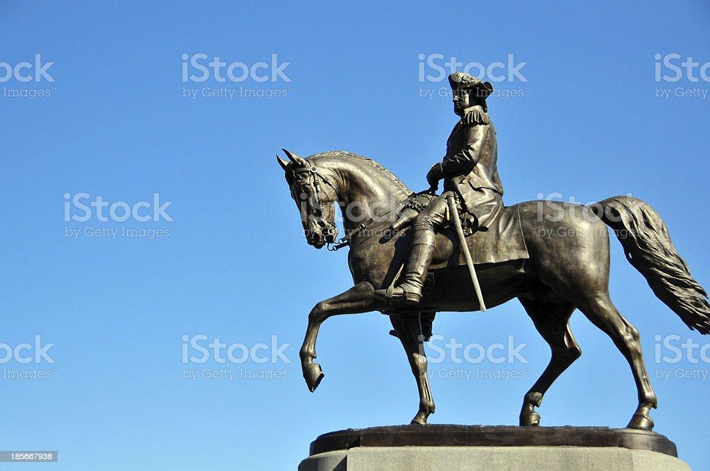 Boston, Massachusetts: George Washington statue stock photo