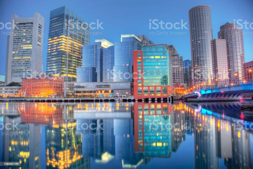 Boston, Massachusetts Skyline royalty-free stock photo